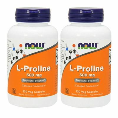 NOW L-Proline 500 mg 120 caps