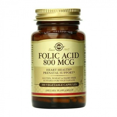 Solgar Folic Acid 800 mg 100 caps