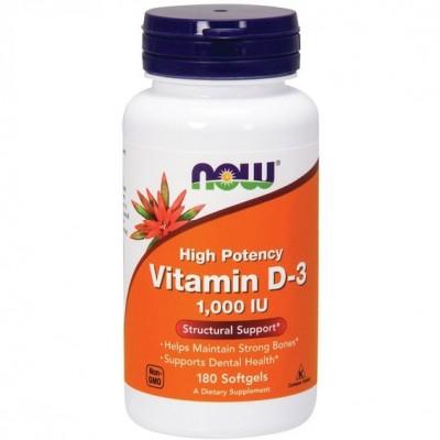 NOW Vitamin D-3 1000 IU 180 soft