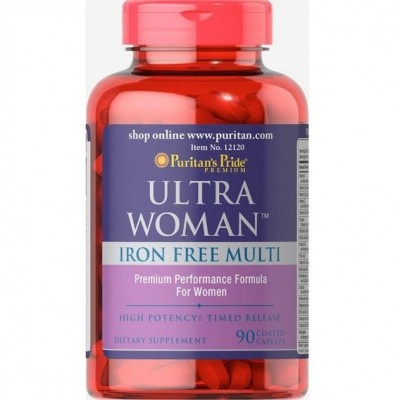 Puritans Pride Ultra Women Daily Multi Iron Free 90 capl