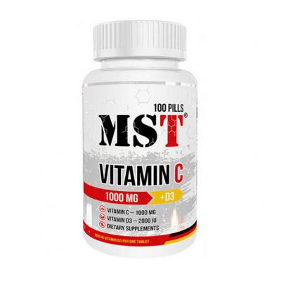 MST Vitamin C 1000 mg + D3 (2000IU) 100 caps