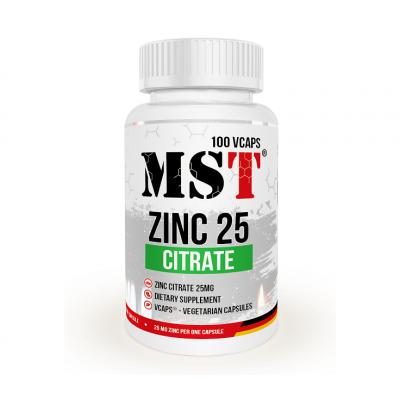 MST Zinc Citrate 25 100 caps