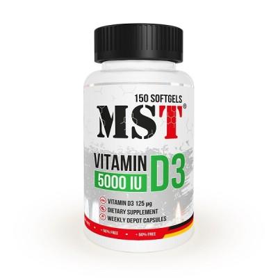 MST Vitamin D3 5000 iu 150 caps