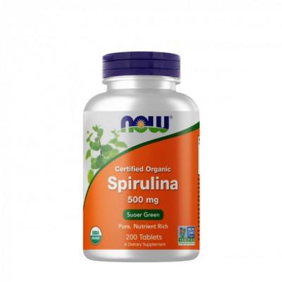 NOW Spirulina 500 mg 200 tabs