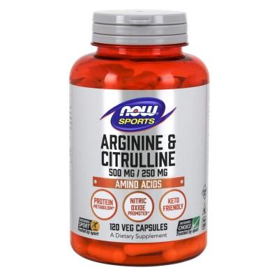NOW Arginine & Citrulline 500/250 120 caps
