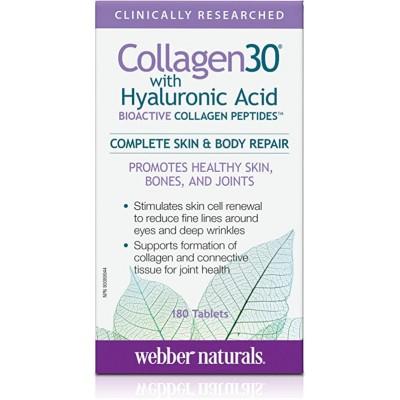 Webber Naturals Collagen30 + H.A. 180 tabs