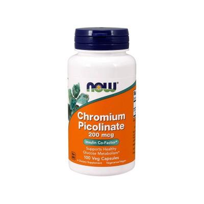 NOW Chromium picolinate 200 mcg 100 caps