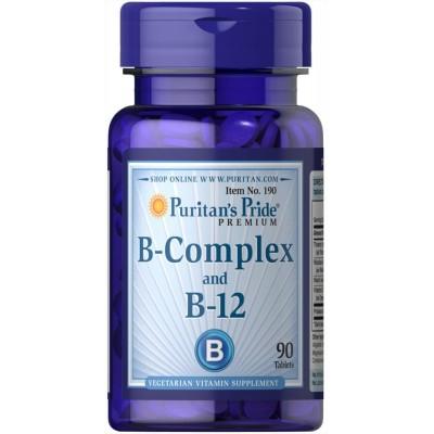Puritan`s Pride Vitamin B-Complex And Vitamin B-12 90 tabs