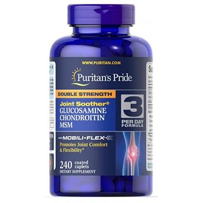 Puritan`s Pride Double Strength Glucosamine,Chondroitin & MSM 240 tabs
