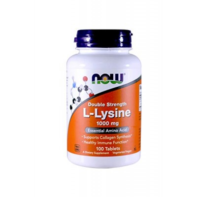 NOW L-Lysine 1000 mg 100 tabs