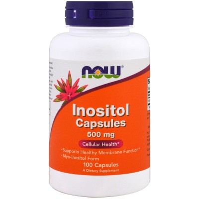 NOW Inositol Capsules 500 mg 100 caps