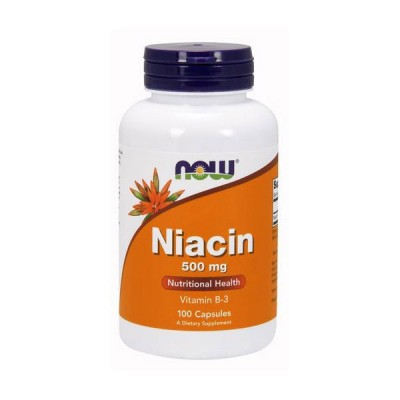 NOW Niacin 500 mg 100 tabs