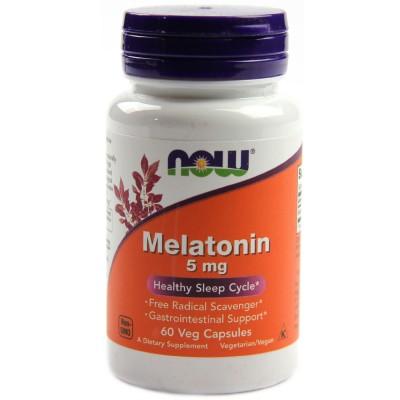 NOW Melatonin 5 mg 60 caps