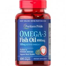 Puritan`s Pride Omega-3 Fish Oil 1000 mg 100 caps
