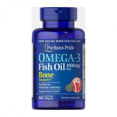 Puritan`s Pride Omega-3 Fish Oil Plus Circulatory Support 60 soft