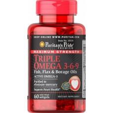 Puritan's PrideTriple Omega 3-6-9120 softgels