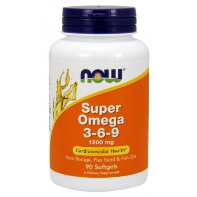 NOW Super Omega 3-6-9 1200 mg 90 soft