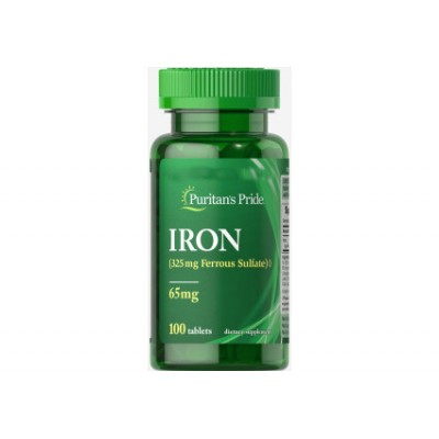 Puritans Pride Iron 65 mg 100 tabs