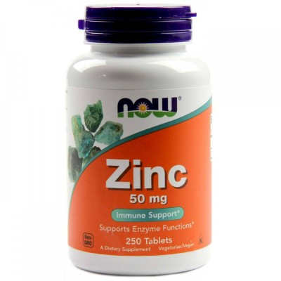 NOW Zinc 50mg 250 tabs