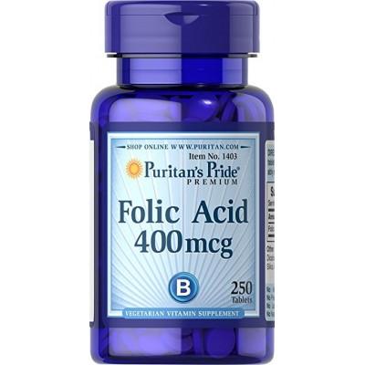Puritan's Pride Folic Acid 400 mcg 250 tab